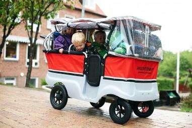 Winther Regenschutz für Turtle Kinderbus für 6 Kinder