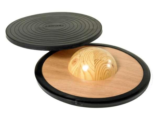 Holz-Balancierbrett schwarz