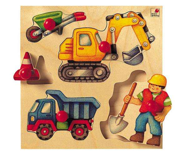 Selecta Greif-Puzzle Baustelle