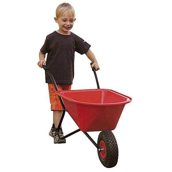 Kinder - Schubkarre aus Metall und Kunststoff