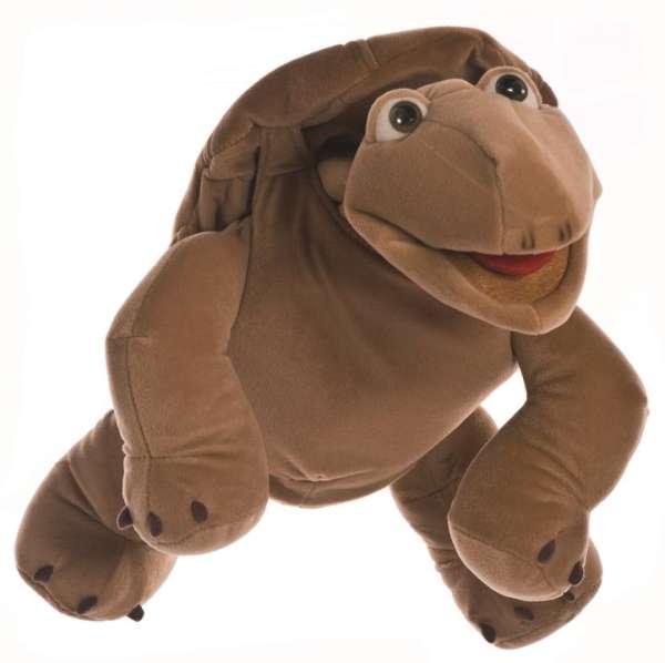 Living Puppets Handpuppe Sammy die Schildkröte, Handeingang unter dem Panzer am Rücken, Maul bespielbar. Größe 54 cm - KiTa-Spielewelt.