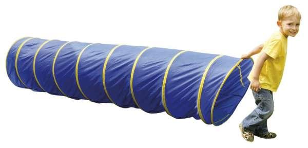 Kriechtunnel blau 175 cm lang mit Tasche