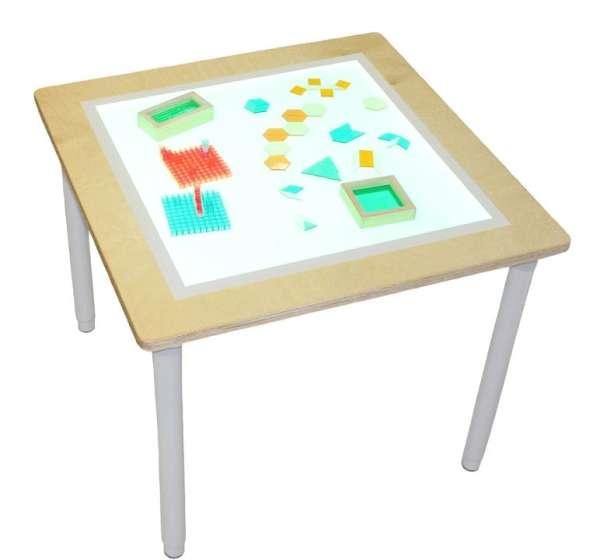 Leuchttisch, weiß 75 x 75 cm
