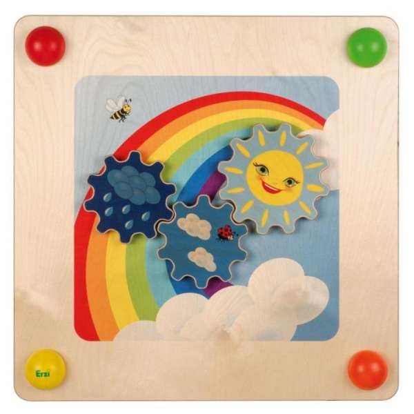 "Babypfad ""Regenbogen"" - Wand-Spielelement"