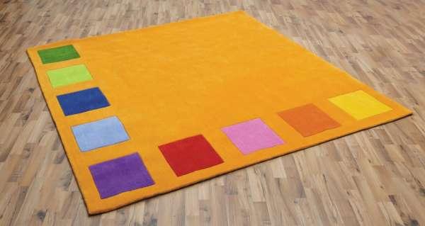 """Spielteppich """"Squarolino"""", orange, 200 x 200 cm"""