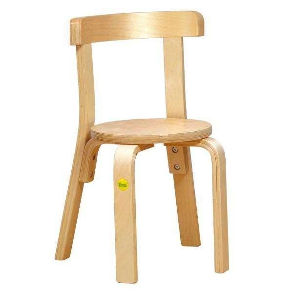 Stuhl aus Formholz in zwei Sitzhöhen