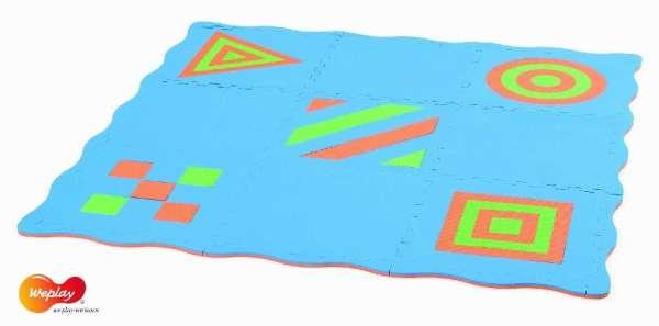 Puzzlematte, Kreativmatte farbig. 9-teilig - KiTa-Spielewelt