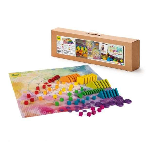 MandaLay Regenbogen 102 Teile mit Spielmatte - KITa-Spielewelt