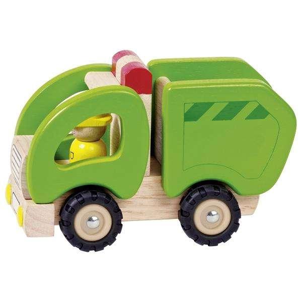 Großes Müllauto für Kinder aus Holz