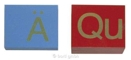 Sandpapiergroßbuchstaben