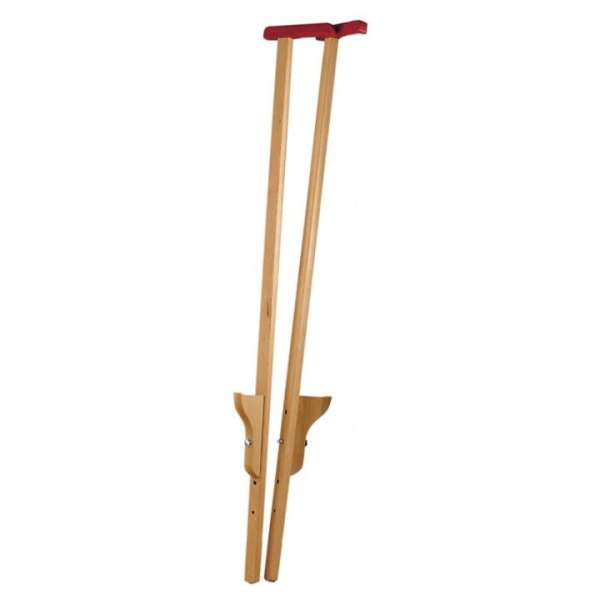 Stelzen 120 cm mit Griff - Kinderstelzen aus Holz, dreifach verstellbar - KiTa-Spielewelt