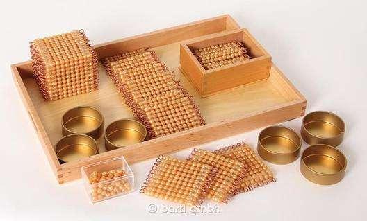 Goldenes Perlenmaterial - Komplettsatz