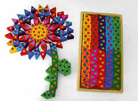 Bausteine - bunte Dreiecke